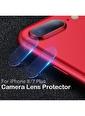 Microsonic iPhone 8 Plus Kamera Lens Koruma Camı Renksiz